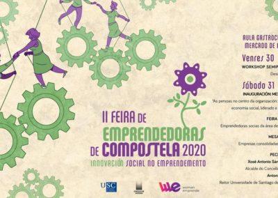II Feira de Emprendedoras de Compostela 2020, en Santiago de Compostela