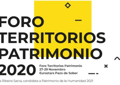 Congreso internacional Foro Territorios Patrimonio, na Ribeira Sacra, Ourense