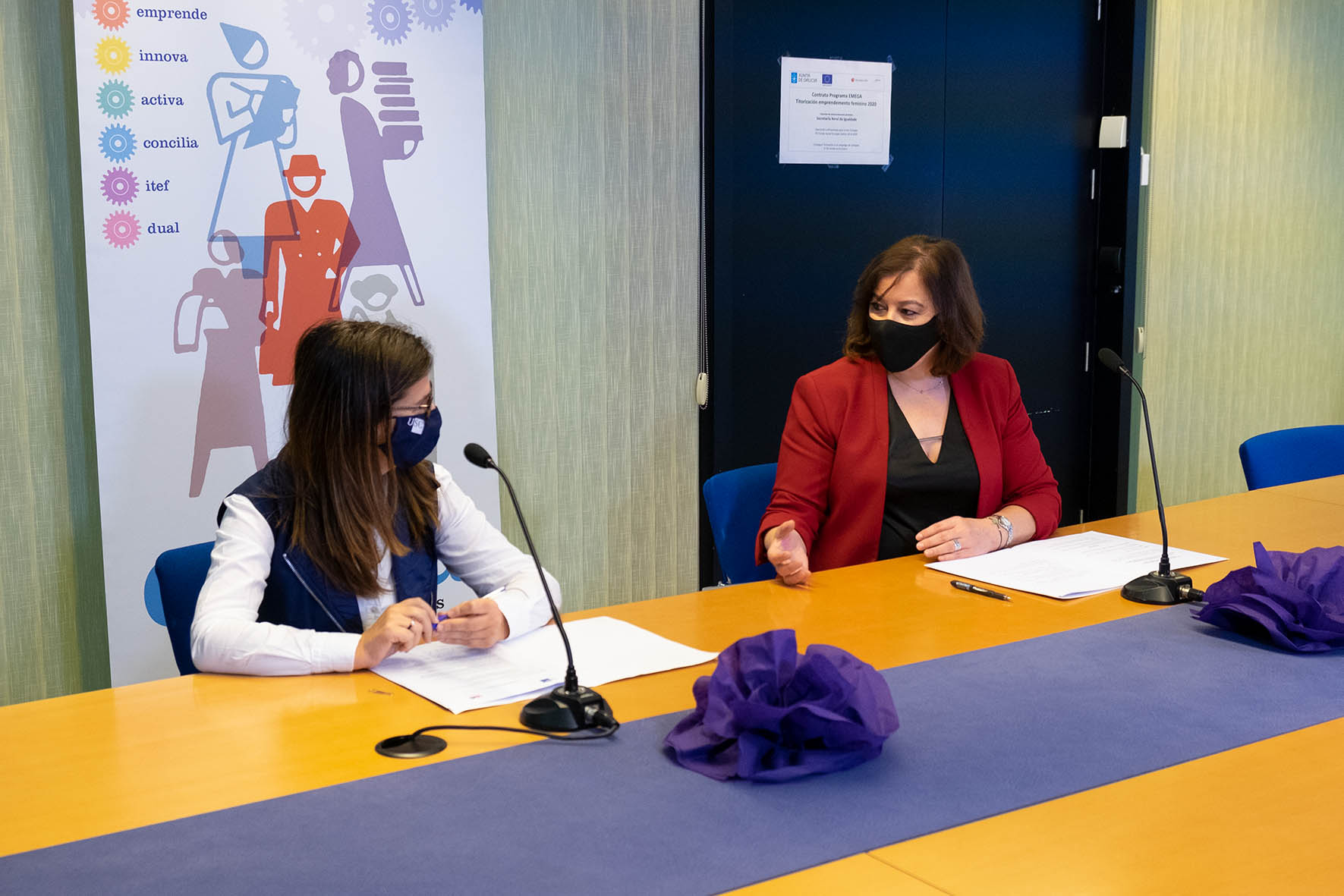 Presentación de las ayudas EMEGA 2020 de la Xunta de Galicia, en Santiago de Compostela